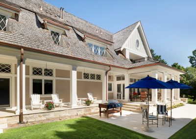 backyard deck for John Kraemer & Sons Lake Minnetonka Coastal style home
