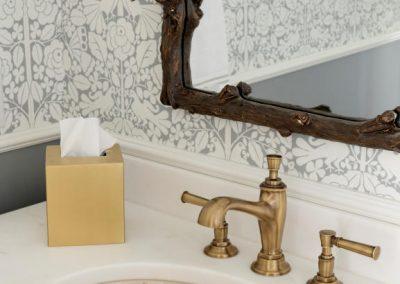 guest bath detail in John Kraemer & Sons Lake Minnetonka Coastal style home