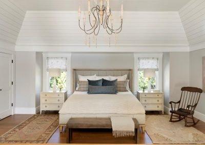 guest bedroom in John Kraemer & Sons Lake Minnetonka Coastal style home