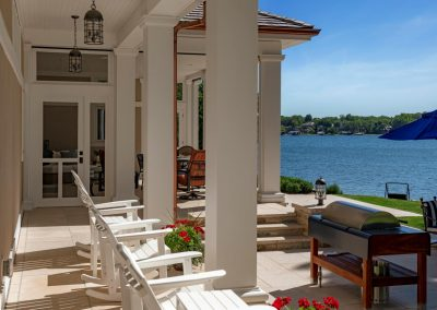 lakeside view from John Kraemer & Sons Lake Minnetonka Coastal style home