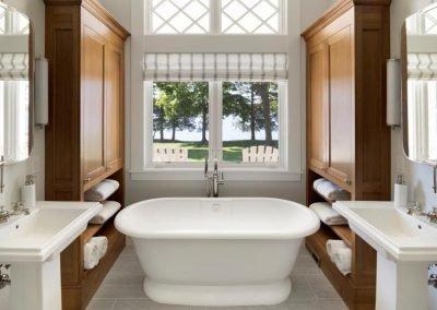 master bath in John Kraemer & Sons Lake Minnetonka Coastal style home