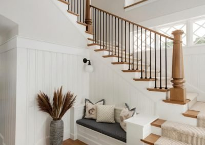 stairway in John Kraemer & Sons Lake Minnetonka Coastal style home