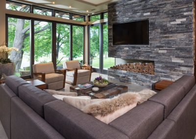 living room in Lake Calhoun Organic Modern style home 18