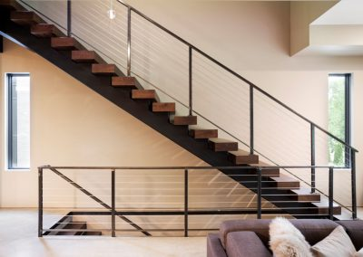 stairway in Lake Calhoun Organic Modern style home