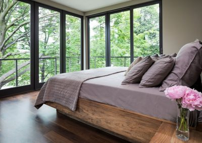 master bedroom in Lake Calhoun Organic Modern style home