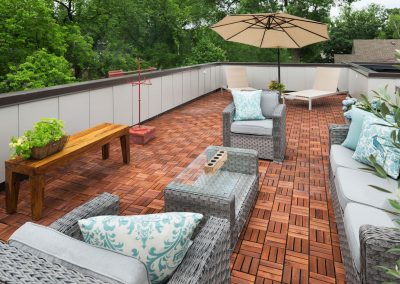 rooftop patio on Lake Calhoun Organic Modern style home