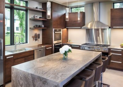 kitchen island in Lake Calhoun Organic Modern style home