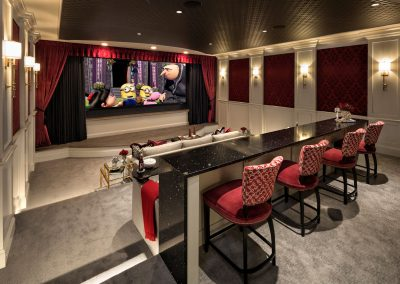 cinema in Lake Minnetonka Chateau built by John Kraemer & Sons