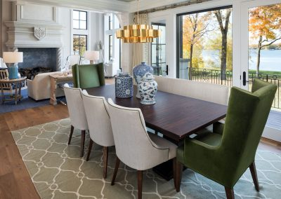 dining room in Lake Minnetonka Chateau built by John Kraemer & Sons