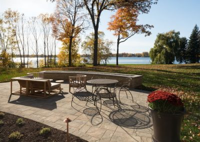 outdoor patio at Lake Minnetonka Chateau constructed by John Kraemer & Sons