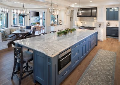 kitchen in Lake Minnetonka Chateau built by John Kraemer & Sons
