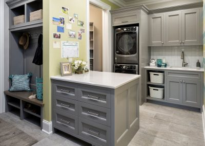 kitchen laundry room in Lake Minnetonka Chateau built by John Kraemer & Sons