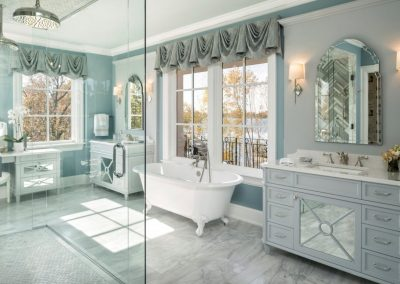 master bath in Lake Minnetonka Chateau built by John Kraemer & Sons