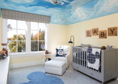 nursery in Lake Minnetonka Chateau built by John Kraemer & Sons