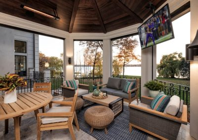 John Kraemer & Sons Lake Minnetonka Chateau sunroom