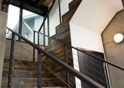 stairs in Modern Lakefront home