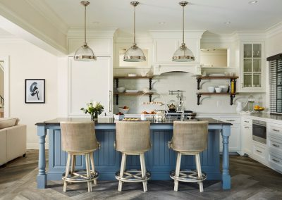 Medina Pool House kitchen by John Kraemer & Sons