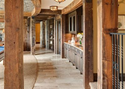 lower level hallway in MN River Estate