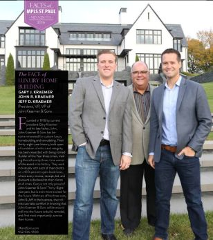 Face of Luxury Home builders in Mpls/St. Paul magazine