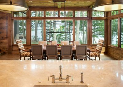 dining room in Northern Wisconsin Cabin