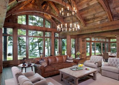 great room in Northern Wisconsin Cabin