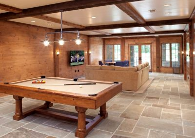 pool room in Northern Wisconsin Cabin