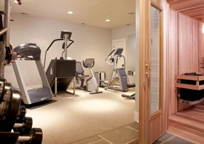 workout room in Northern Wisconsin Cabin