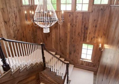 staircase in Northern Wisconsin Cabin