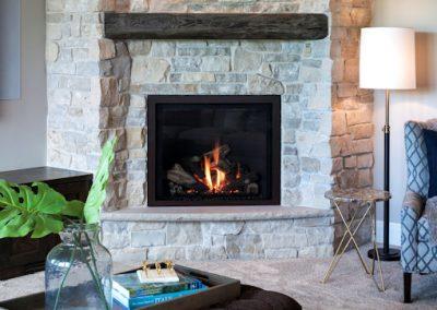 John Kraemer & Sons Orono Deer Hill Preserve downstairs fireplace