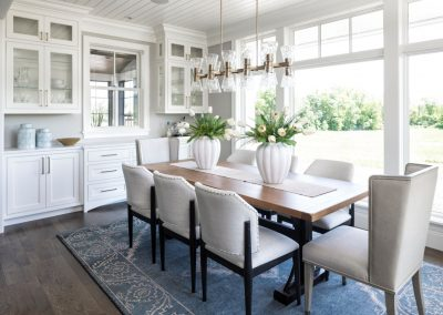 formal dining room in Orono Deer Hill Preserve by John Kraemer & Sons