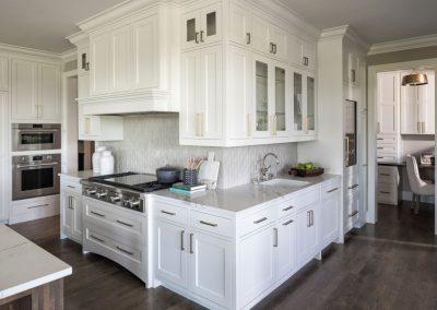 kitchen in Orono Deer Hill Preserve by John Kraemer & Sons