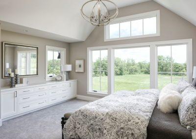 master bedroom in Orono Deer Hill Preserve by John Kraemer & Sons