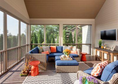 sunroom in Parkwood Knolls Custom home