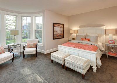 master bedroom in Parkwood Knolls Custom home