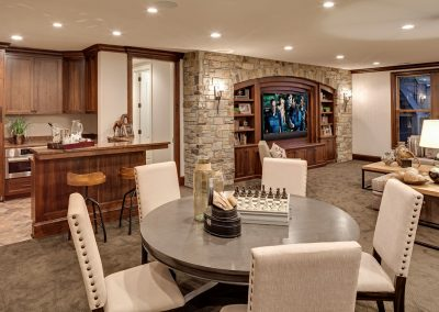 lower level in Parkwood Knolls Custom home
