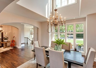 dining room in Parkwood Knolls Custom home
