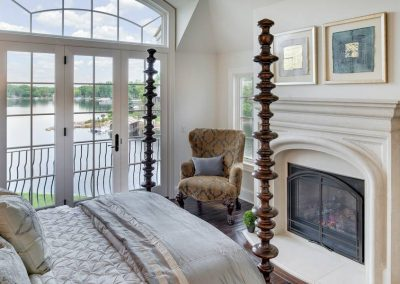 master bedroom at Candy Cove home on Prior Lake