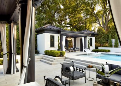 Rolling Green Pool Cabana patio