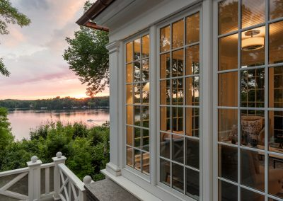 John Kraemer & Sons Coastal Lakeside upper level windows