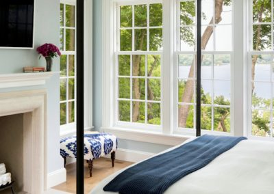 John Kraemer & Sons Coastal Lakeside master bedroom