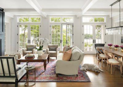 John Kraemer & Sons Coastal Lakeside living room