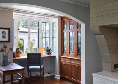 kitchen nook in St. Paul Burgundy Tudor Renovation
