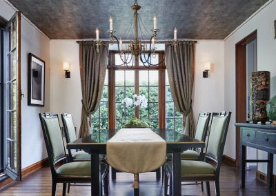 dining room in St. Paul Burgundy Tudor Renovation