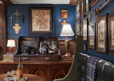 den in St. Paul Burgundy Tudor Renovation