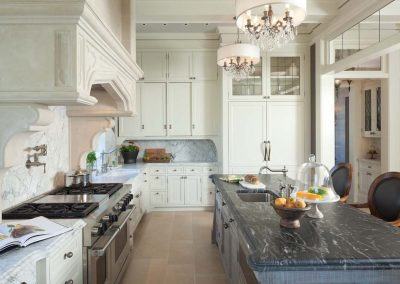 kitchen in historic St. Paul Mansion renovation by John Kraemer and Sons