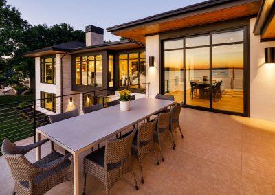 patio in Tonka Bay Modern home