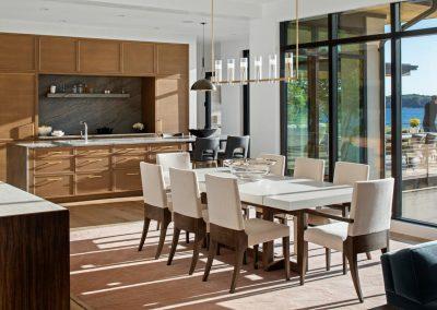 dining room in Tonka Bay Modern home