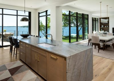 great room in Tonka Bay Modern home