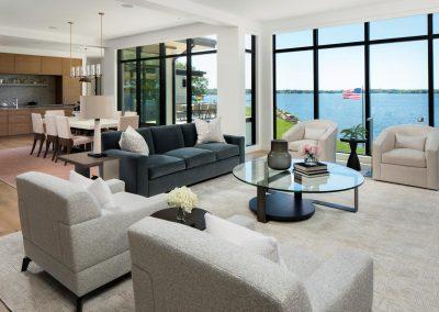 living room in Tonka Bay Modern home