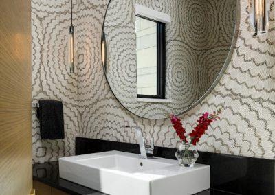 powder room in Tonka Bay Modern home